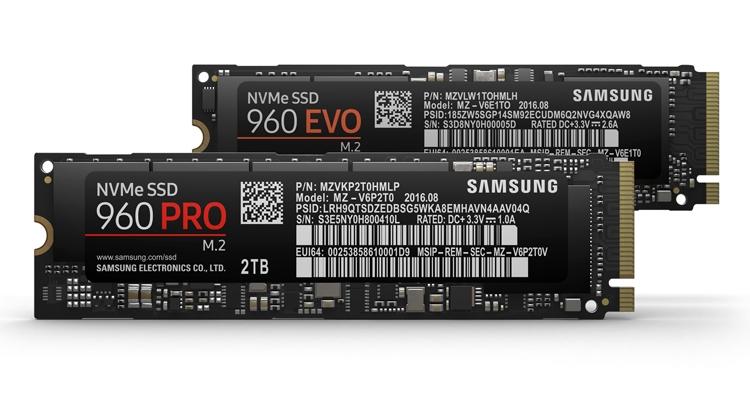 Samsung 960 PRO и 960 EVO: быстрые SSD-накопители NVMe M.2